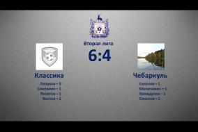 Вторая лига 2019/20. Чебаркуль - Классика 4:6