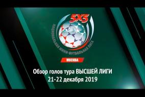 ОБЗОР голов тура Высшей Лиги Чемпионата НМФЛ-Москва от 21-22.12.2019