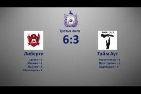 Третья лига 2019/20. Либерти - Тайм Аут 6:3
