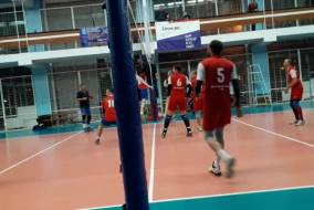 Волейбол 2019-2020. Матч СБЕРБАНК - АЕДОН. Фрагмент 1. НАчало 2-й партии