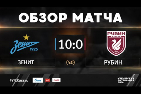 «Зенит» - «Рубин». Обзор матча | 1 тур | ЮФЛ-2 2020/21