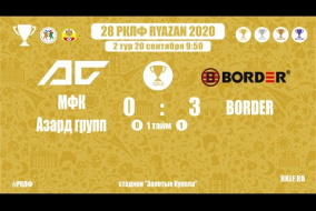 28 РКЛФ | Золотой кубок | МФК Азард групп-BORDER | 0:3