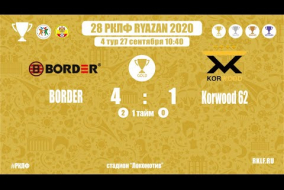 28 РКЛФ | Золотой кубок | BORDER-Korwood 62 | 4:1