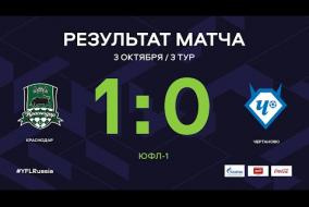 «Краснодар» - «Чертаново». Обзор матча | 3 тур | ЮФЛ-1 2020/21