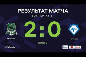 «Краснодар» - «Чертаново». Обзор матча | 3 тур | ЮФЛ-2 2020/21