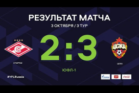 «Спартак» - ЦСКА. Обзор матча   3 тур   ЮФЛ-1 2020/21