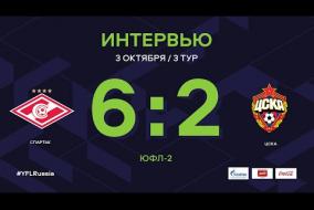 «Спартак» - ЦСКА. Интервью | 3 тур | ЮФЛ-2 2020/21