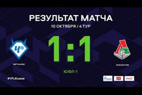«Чертаново» - «Локомотив». Обзор матча   4 тур   ЮФЛ-1 2020/21