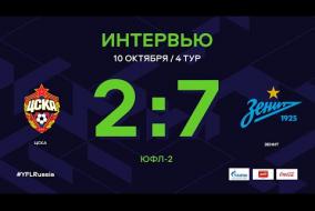 ЦСКА - «Зенит». Интервью | 4 тур | ЮФЛ-2 2020/21