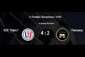 Гефест - Пивзавод. Обзор матча.