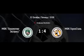 Локомотив - Горносталь. Обзор матча.