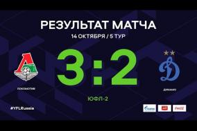 «Локомотив» - «Динамо». Обзор матча | 5 тур | ЮФЛ-2 2020/21