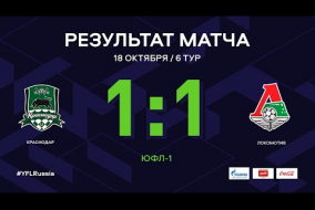 «Краснодар» - «Локомотив». Обзор матча | 6 тур | ЮФЛ-1 2020/21