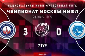 Столица - МАИ | Суперлига НМФЛ 2020/21  Обзор матча