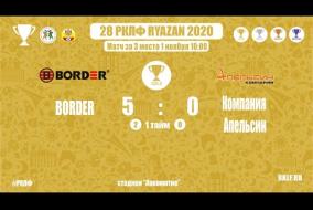 28 РКЛФ | Золотой кубок | BORDER-Компания Апельсин | 5:0