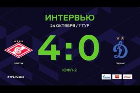 «Спартак» - «Динамо». Интервью | 7 тур | ЮФЛ-2 2020/21