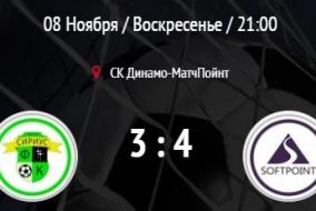 Сириус - Софтпойнт. Обзор матча.