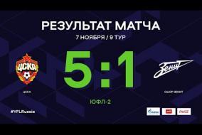 ЦСКА – СШОР-Зенит. Обзор матча | 9 тур | ЮФЛ-2 2020/21