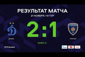 «Динамо» - «Строгино». Обзор матча   10 тур   ЮФЛ-2 2020/21