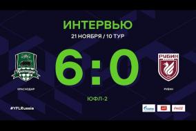 «Краснодар» - «Рубин». Интервью | 10 тур | ЮФЛ-2 2020/21
