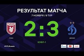 «Рубин» - «Динамо». Обзор матча | 9 тур | ЮФЛ-1 2020/21
