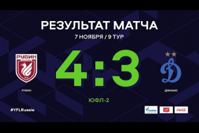 «Рубин» - «Динамо». Обзор матча | 9 тур | ЮФЛ-2 2020/21