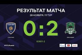 «Строгино» - «Краснодар». Обзор матча | 11 тур | ЮФЛ-2 2020/21