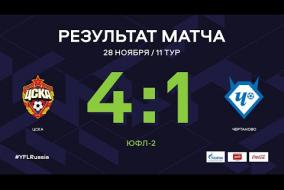 «ЦСКА» - «Чертаново». Обзор матча | 11 тур | ЮФЛ-2 2020/21