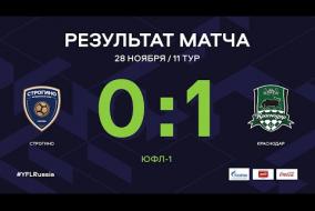 «Строгино» - «Краснодар». Обзор матча | 11 тур | ЮФЛ-1 2020/21