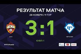 «ЦСКА» - «Чертаново». Обзор матча | 11 тур | ЮФЛ-1 2020/21