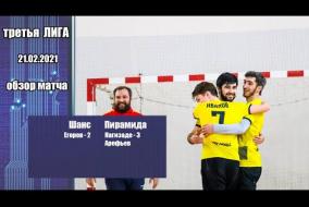 Третья лига 2020/21. Шанс - Пирамида 2:4