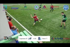 Школьная Футбольная Лига. Полный матч: Скорпионы 58 - Волки 77