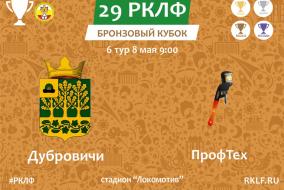 29 РКЛФ Бронзовый Кубок Дубровичи - ПрофТех 2:1