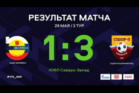 СШОР Экспресс - СШОР-5. Обзор матча   2 тур   ЮФЛ СЗ