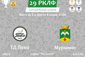29 РКЛФ Матч за 3-е место Серебряный Кубок ТД Пеко - Мурмино 4:0
