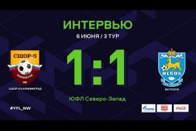 СШОР-5 Калининград – ФК Псков. Интервью | 3 тур | ЮФЛ СЗ