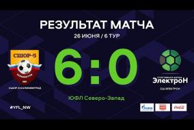 СШОР-5 Калининград – СШ Электрон. Обзор матча   6 тур   ЮФЛ СЗ