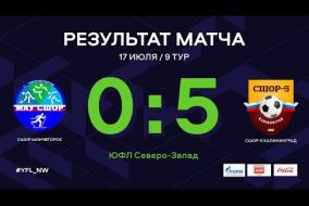 СШОР Мончегорск – СШОР-5 Калининград. Обзор матча | 9 тур | ЮФЛ СЗ