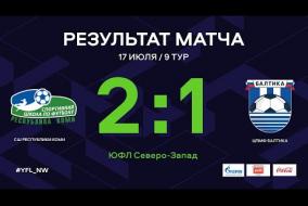 СШ Республики Коми – ЦПМФ Балтика. Обзор матча | 9 тур | ЮФЛ СЗ