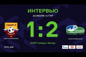 СШОР-5 Калининград – СШ Коми. Интервью | 4 тур | ЮФЛ СЗ
