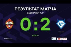 ЮФЛ-1. ЦСКА (Москва) - Чертаново (Москва). 1-й тур. Обзор