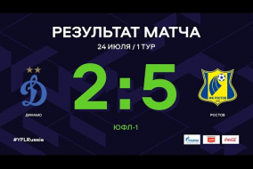 ЮФЛ-1. Динамо (Москва) - Ростов. 1-й тур.Обзор