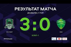 ЮФЛ-1. Краснодар - ФШМ (Москва). 1-й тур. Обзор