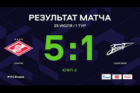 ЮФЛ-2. Спартак - СШОР Зенит. 1-й тур. Обзор
