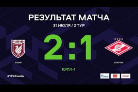 ЮФЛ-1. Рубин - Спартак. 2-й тур. Обзор