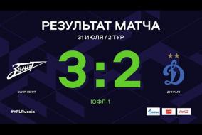 ЮФЛ-1. СШОР Зенит (Санкт-Петербург) - Динамо (Москва). 2-й тур. Обзор