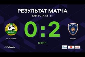 ЮФЛ-1. СШ по футболу - Строгино. 2-й тур. Обзор