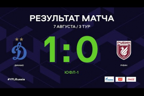 ЮФЛ-1. Динамо (Москва) - Рубин (Казань). 3-й тур. Обзор