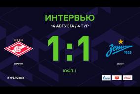 ЮФЛ-1. Спартак - Зенит. 4-й тур. Интервью