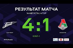 ЮФЛ-1. СШОР Зенит - Локомотив. 4-й тур. Обзор